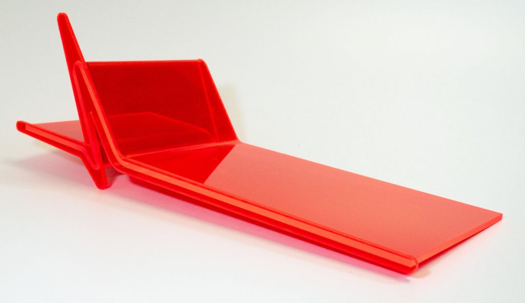 Neon Red Acrylic Shelf Display