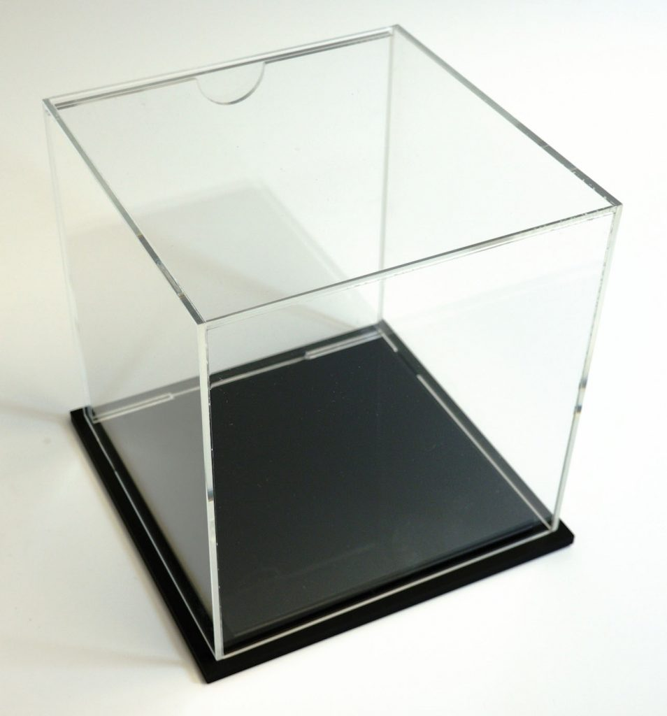 Removable Acrylic Display Case With Graphic Holder